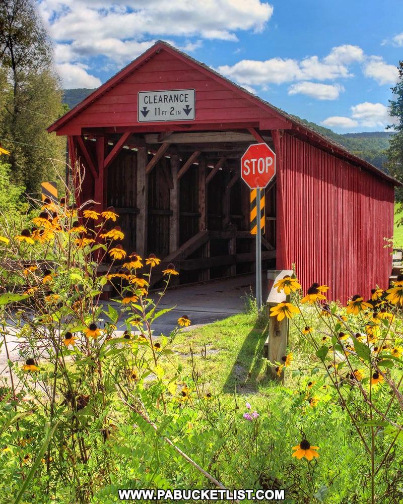 Summer at Logan Mills Covered Bridge in Pennsylvania