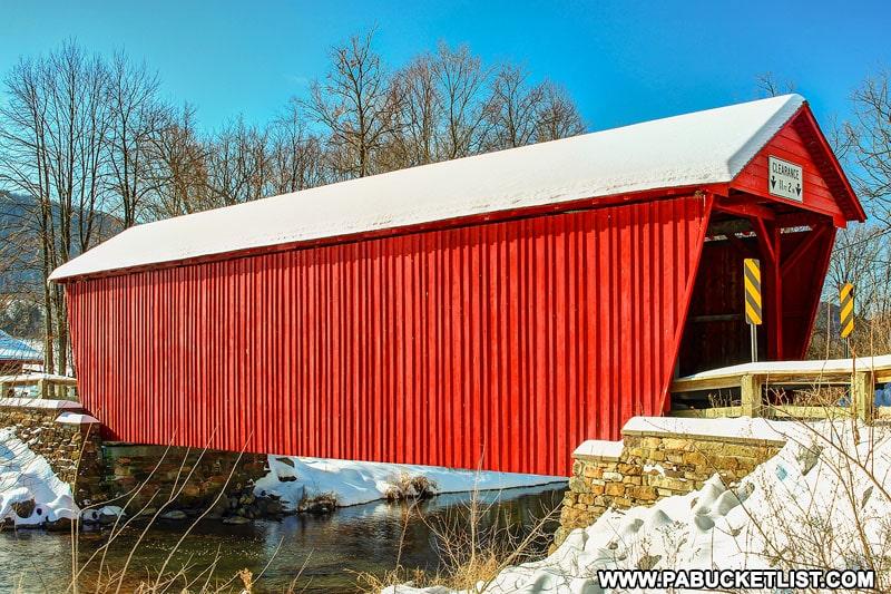 Logan Mills Covered Bridge in Clinton County Pennsylvania