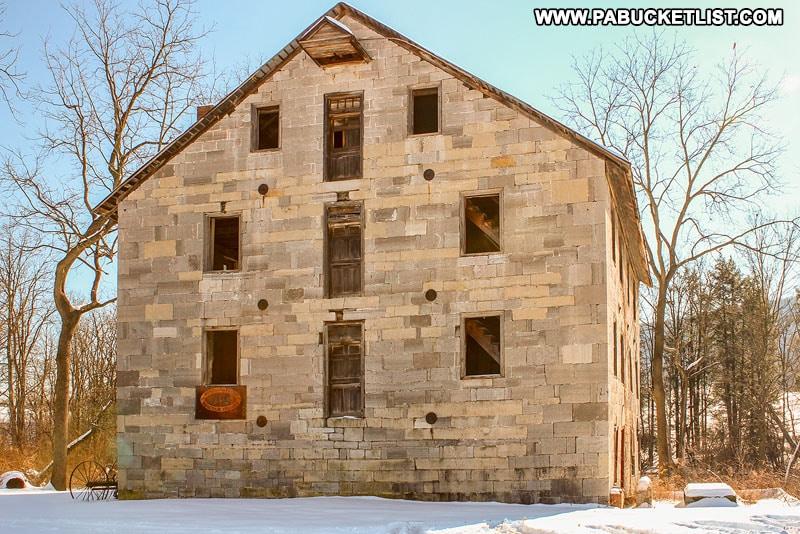 Logan Mills Gristmill in Clinton County Pennsylvania.