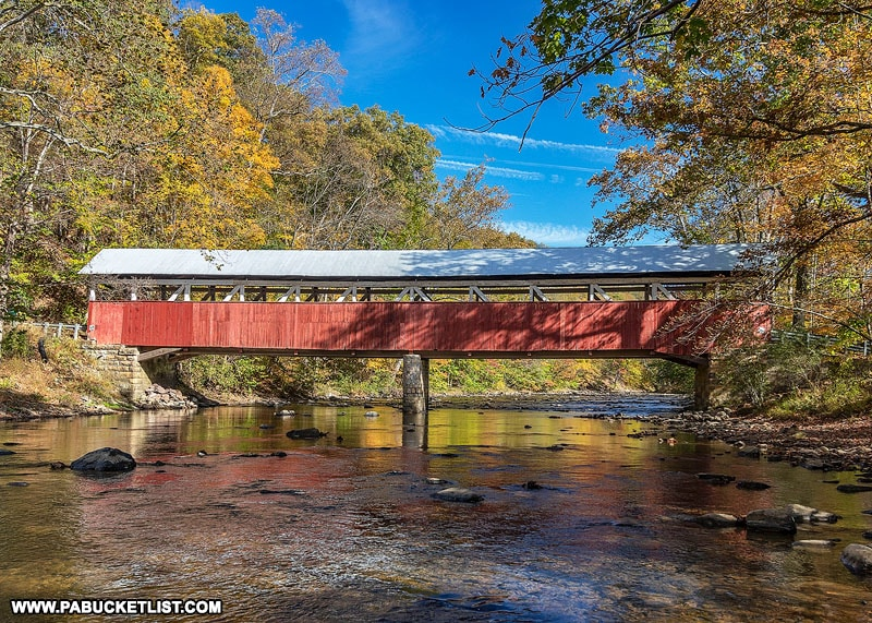 Autumn at Lower Humbert Covered Bridge