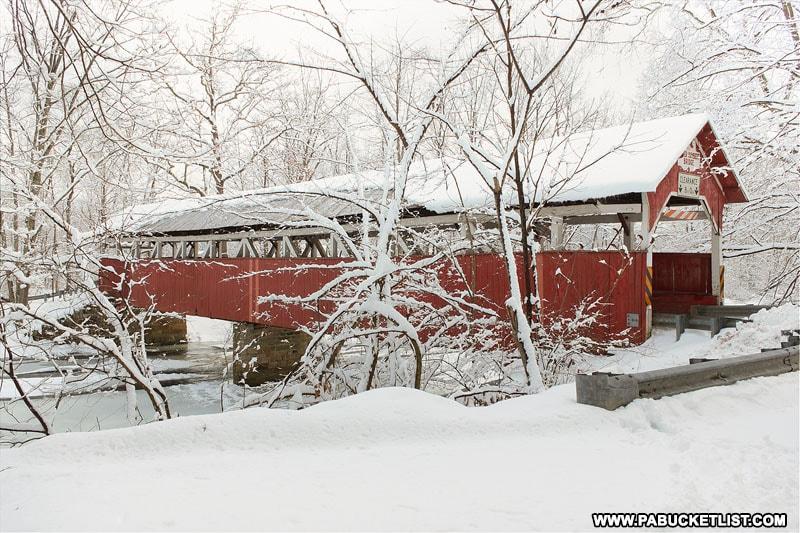 Lower Humbert Covered Bridge in the Laurel Highlands of Pennsylvania.