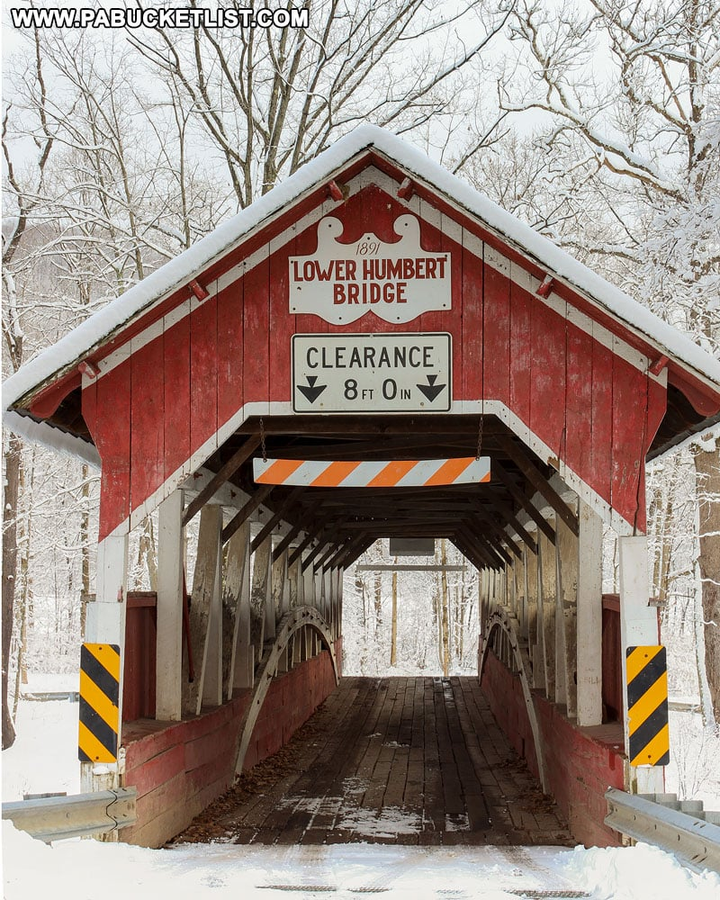 Front view of Lower Humbert Covered Bridge