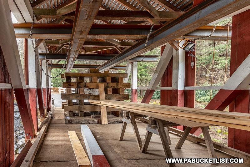 Pack Saddle Bridge construction progress as of May 2020