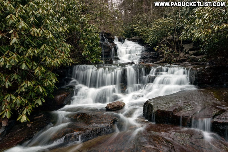 Terrace Falls at Glen Onoko near Jim Thorpe Pennsylvania