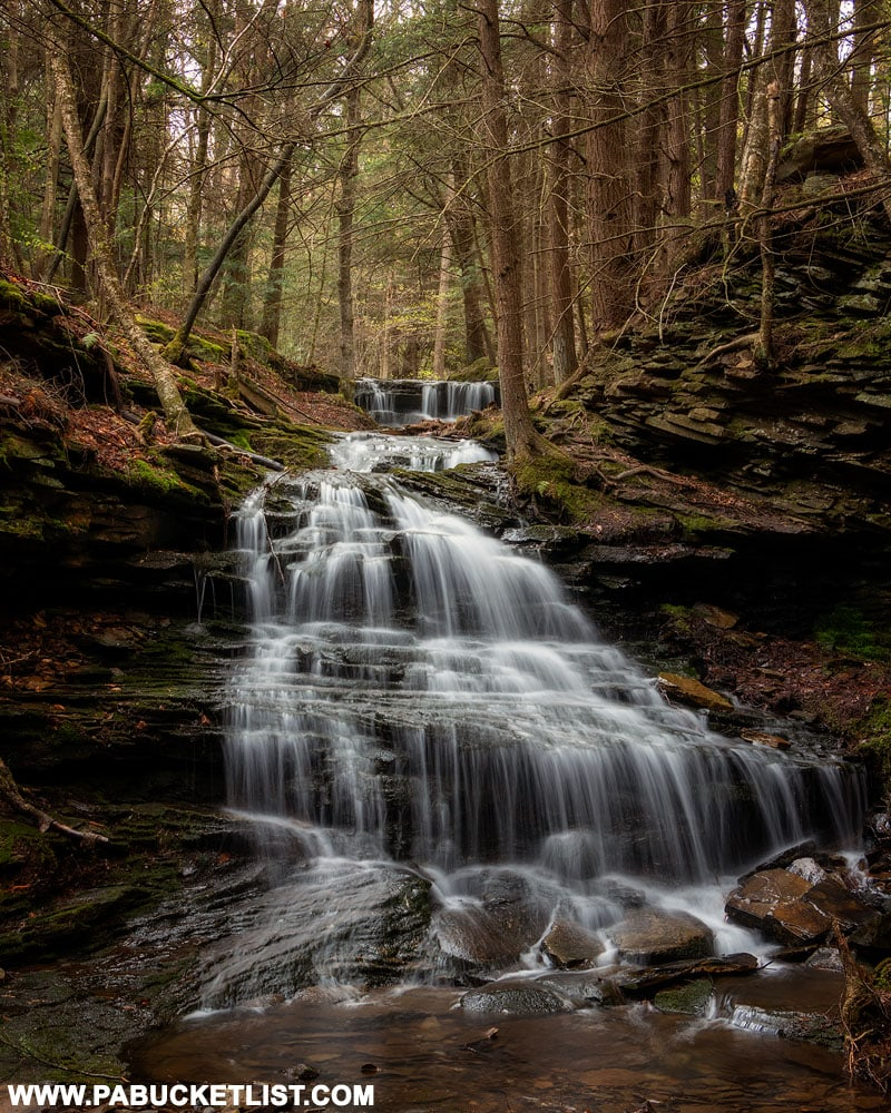 Waterfall on unnamed tributary of Babb Creek in Tioga County