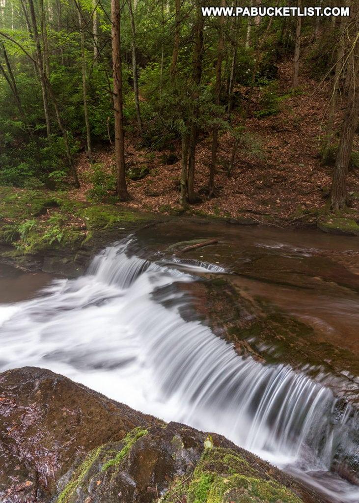 Wykoff Run Falls in Cameron County PA