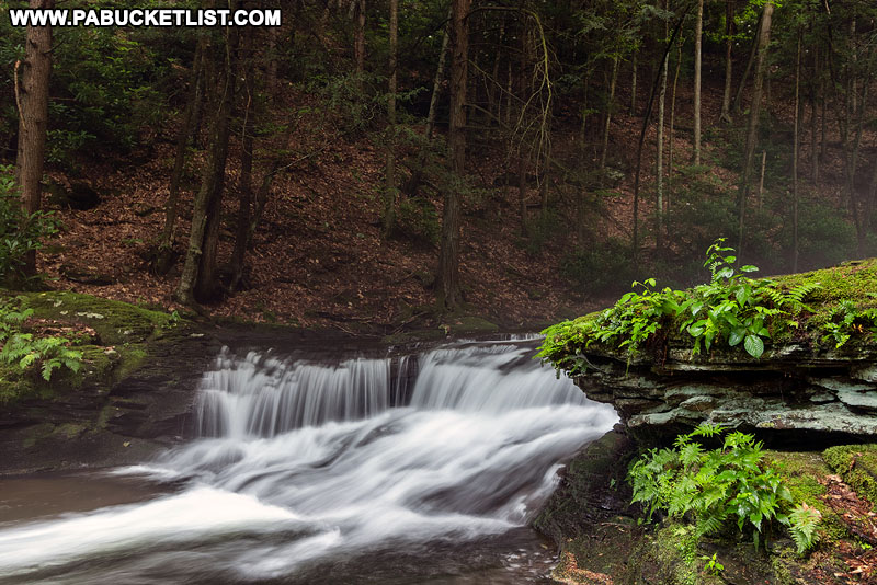 Wykoff Run Falls in Pennsylvania