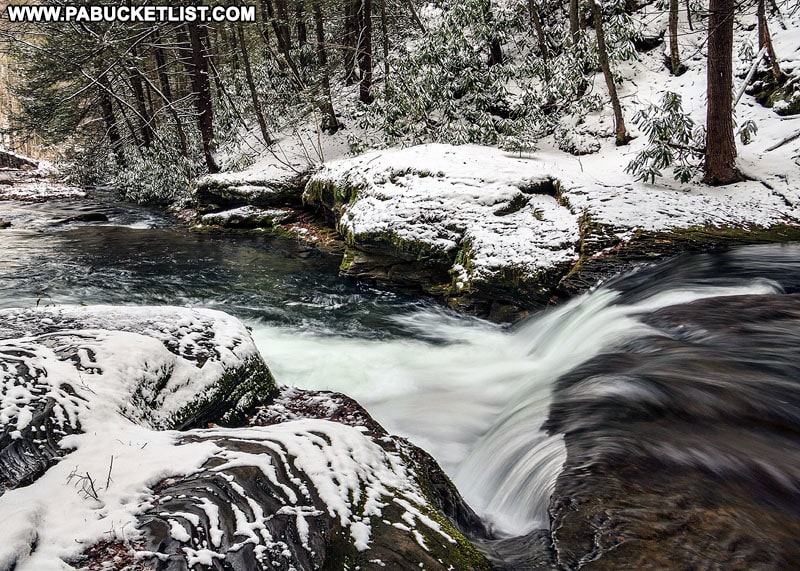 Wykoff Run Falls in Cameron County Pennsylvania