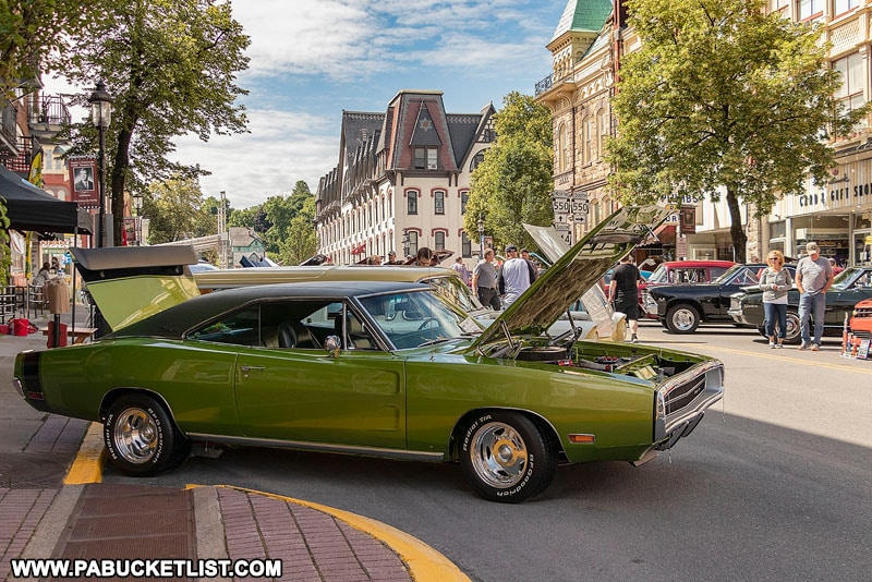 The Last Cruise Car Show in downtown Bellefonte Pennsylvania