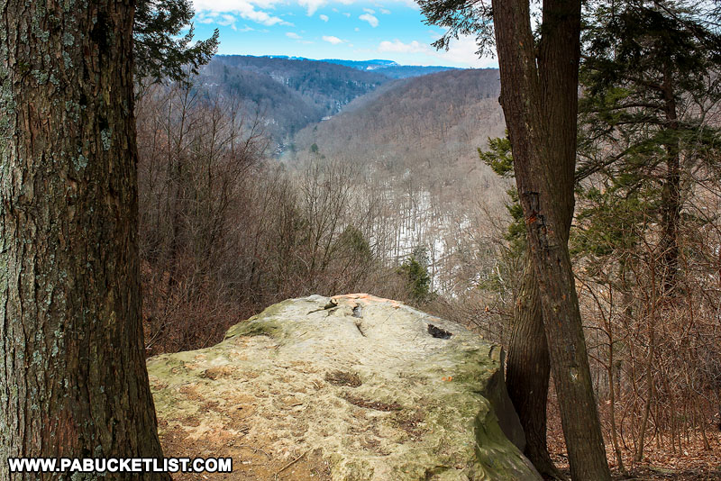 Cleland Rock at McConnells Mill State Park in Lawrence County PA.