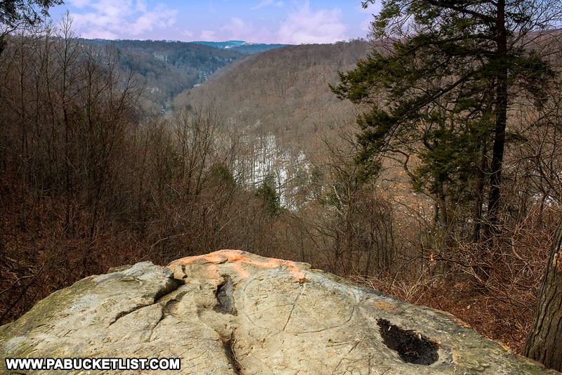 Cleland Rock at McConnells Mill State Park.