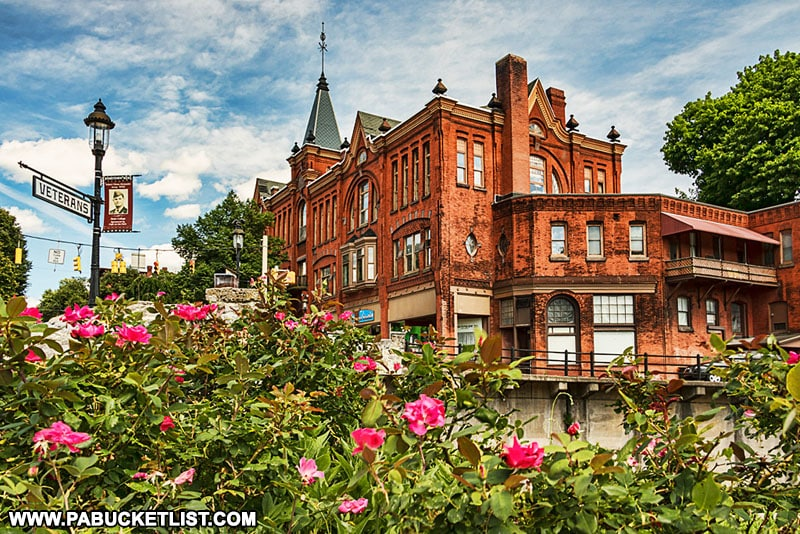 Victorian architecture in downtown Bellefonte Pennsylvania