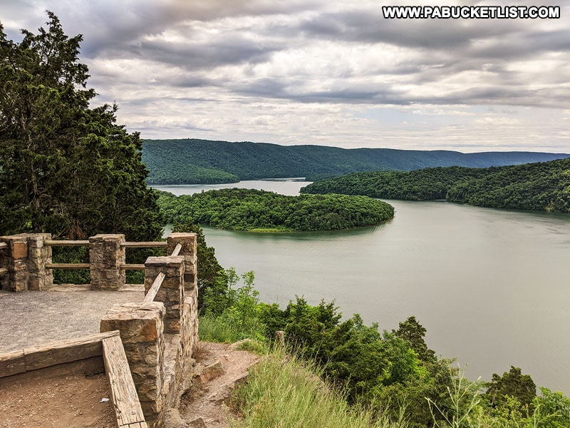 Observation deck at Hawn's Overlook near Raystown Lake.
