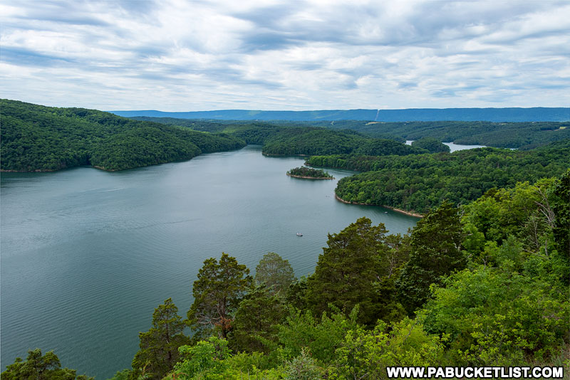 View from Hawn's Overlook at Raystown Lake.