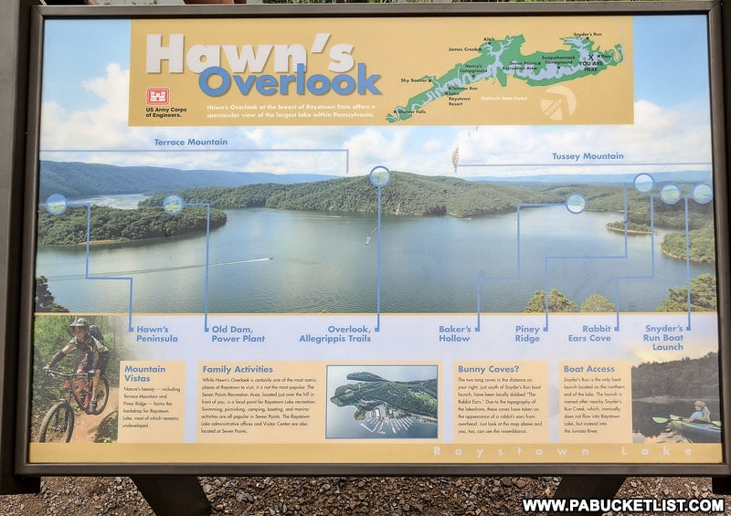 Informational sign at Hawn's Overlook.