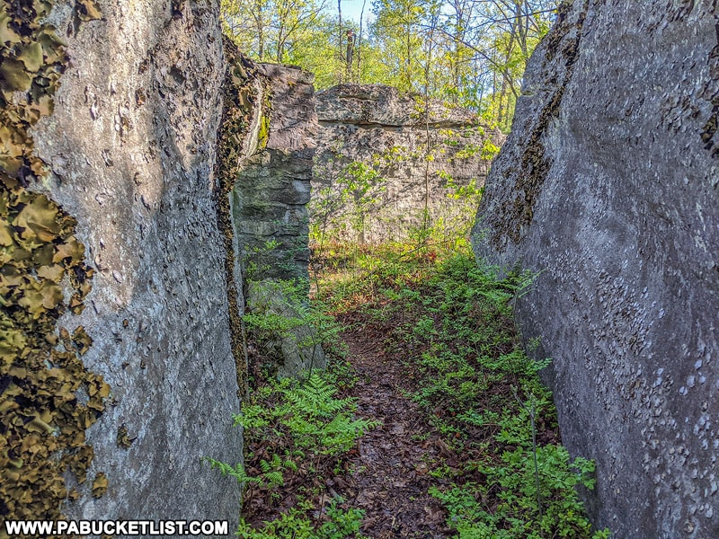 Rock formations near Kunes Camp in the Quehanna Wild Area