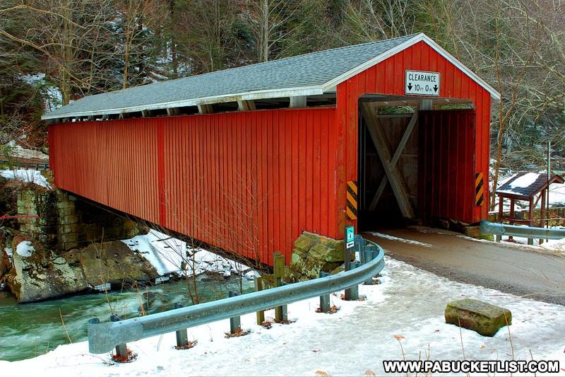 McConnells Mill Covered Bridge in Pennsylvania.