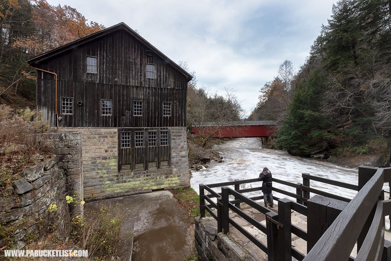 McConnells Mill and Covered Bridge at McConnells Mill State Park.