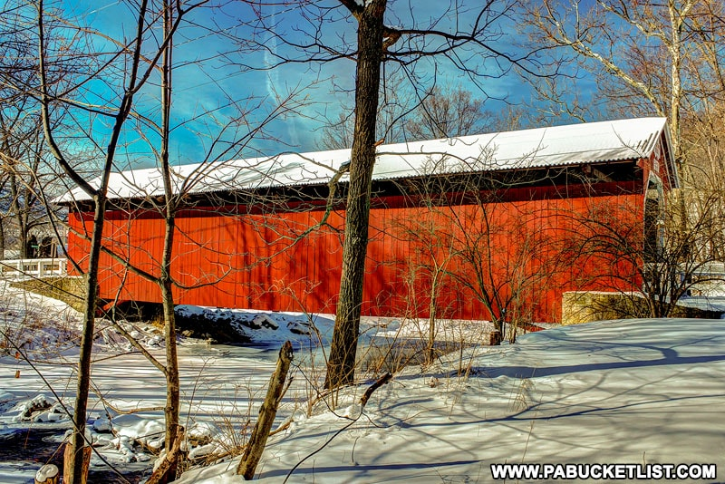 Winter at New Baltimore Covered Bridge in Somerset County.