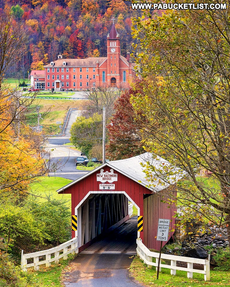 New Baltimore Covered Bridge in the fall.
