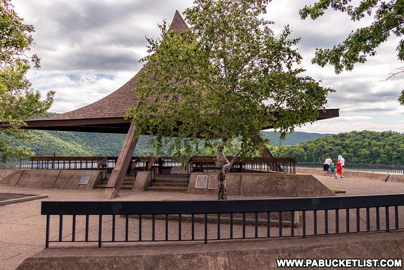 The Raystown Pagoda at Raystown Lake in Huntingdon County PA.