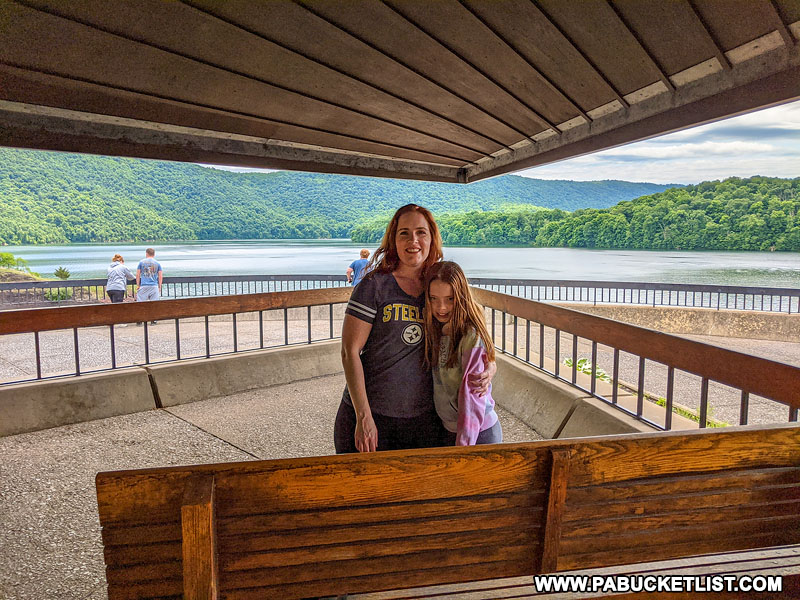 Inside the Raystown Pagoda at Raystown Lake in Huntingdon County.