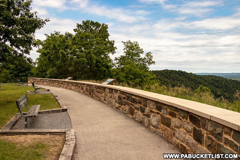 Ridenour Overlook at Raystown Lake in Huntingdon County.