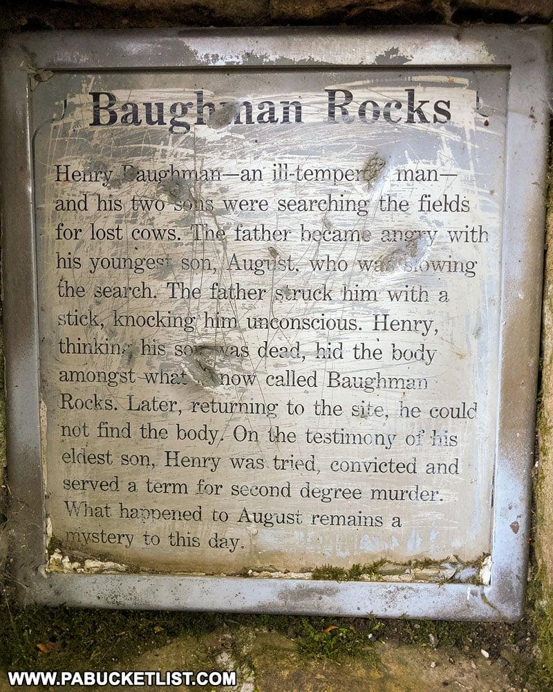History of Baughman Rocks on Mount Davis in Somerset County