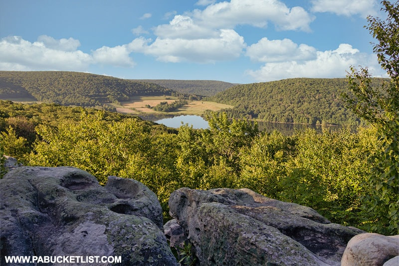 Camp Buckey Overlook in the Forbes State Forest.