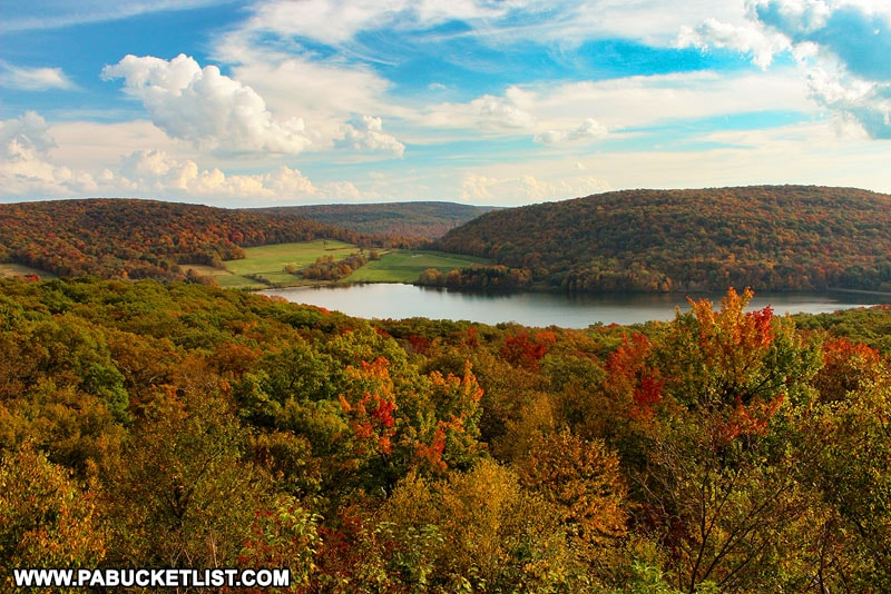 The view from Camp Buckey Overlook in October.
