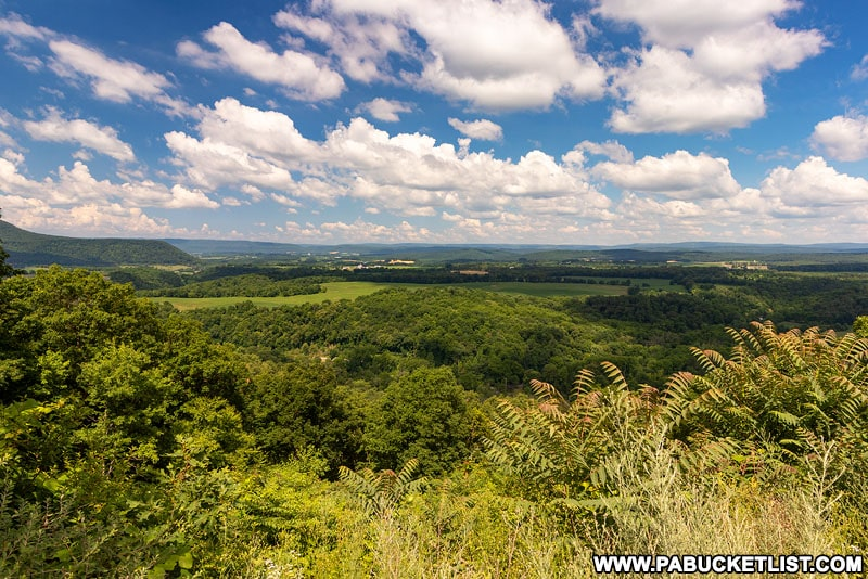 Canoe Mountain Vista in the Rothrock State Forest.