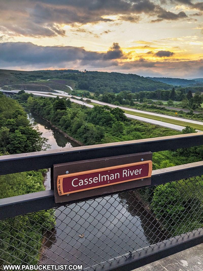 The Casselman River flowing beneath the Salisbury Viaduct.