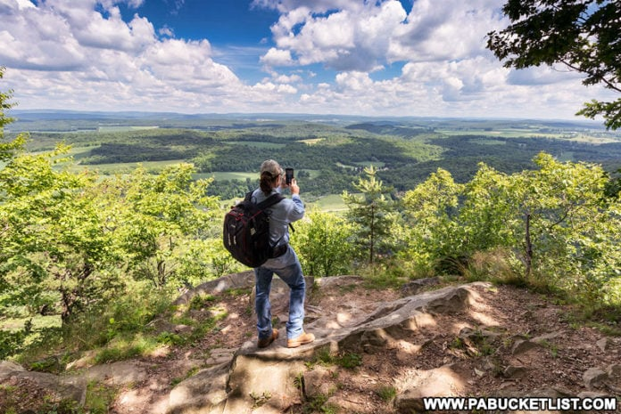 Exploring Indian Lookout in the Rothrock State Forest.