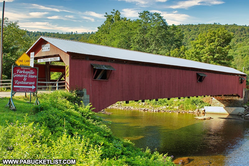 The Forksville Covered Bridge in Sullivan County Pennsylvania
