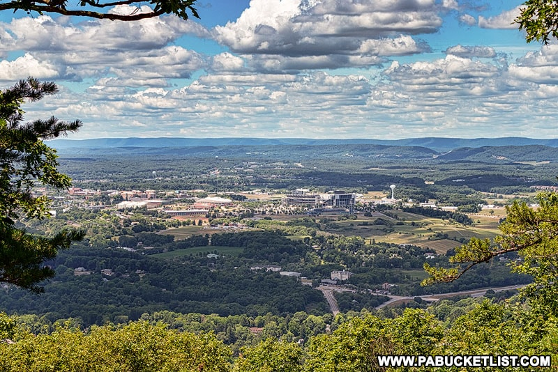 Happy Valley as viewed from the top of Mount Nittany.