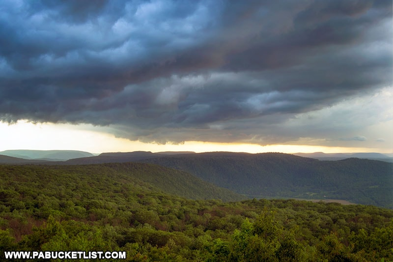 Storm clouds south of High Knob Overlook in Sullivan County.