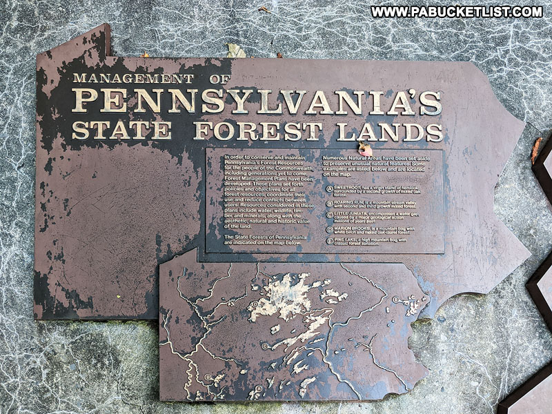 Informational plaque at the foot of Mount Davis observation tower.