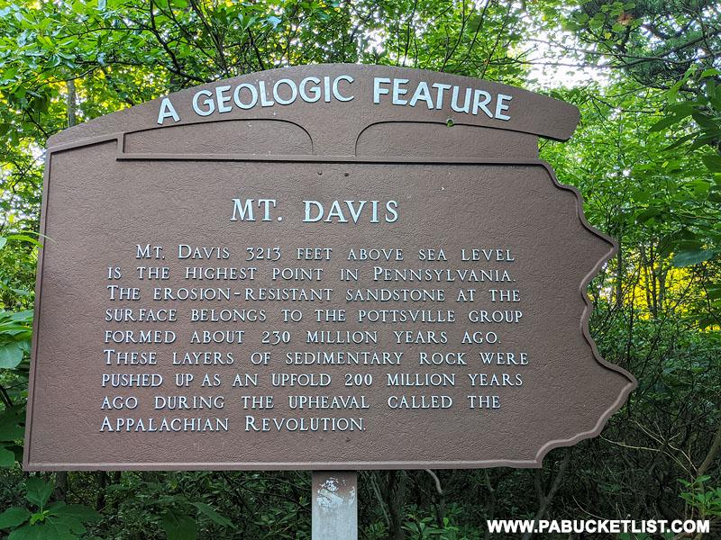 Geologic history of Mount Davis in Somerset County.