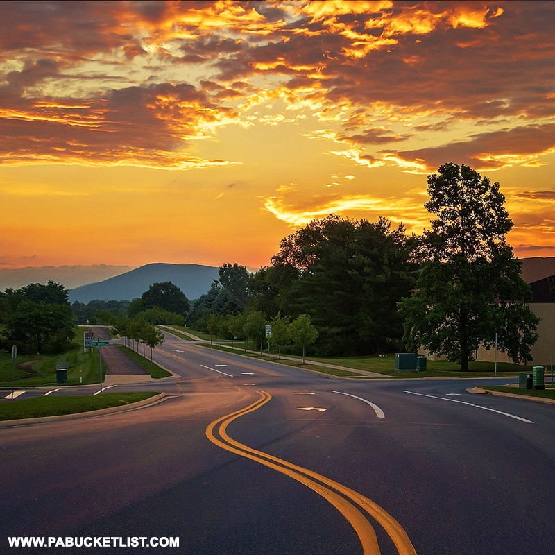 Sunrise over Mount Nittany in State College PA