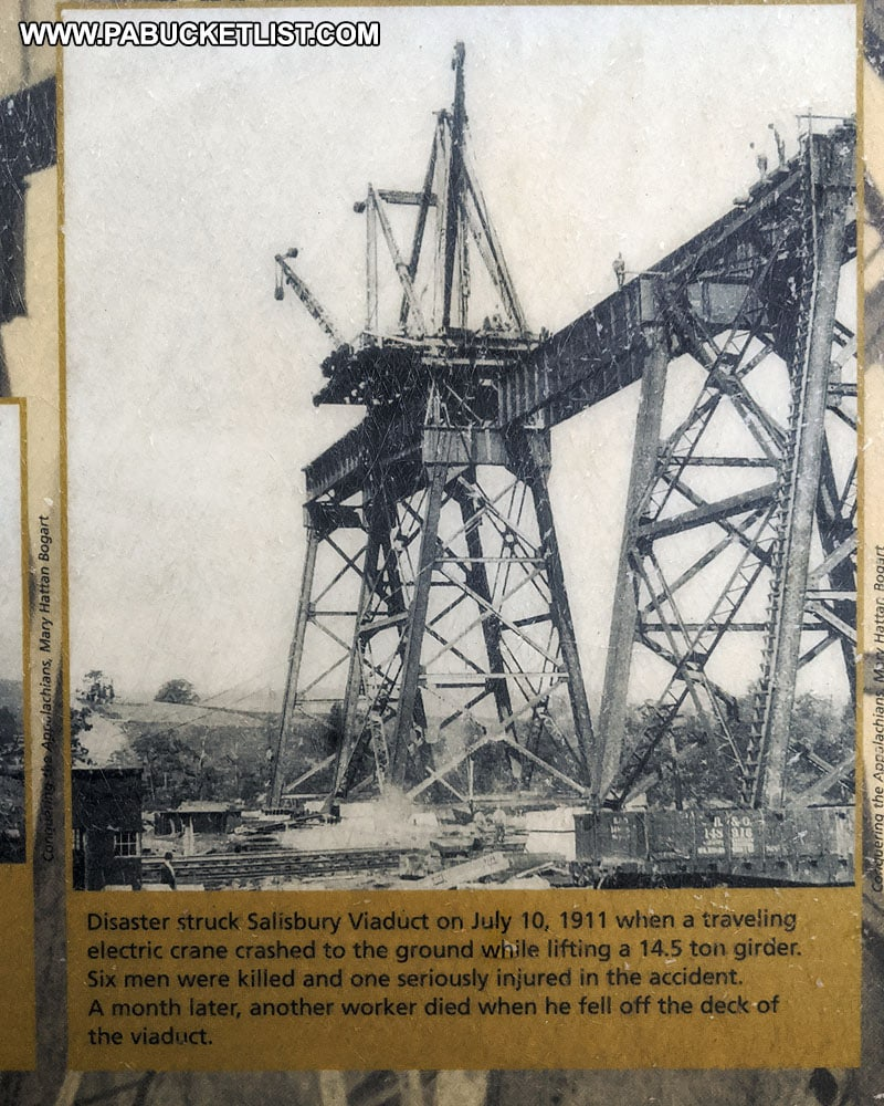 History of accidents during the construction of the Salisbury Viaduct.
