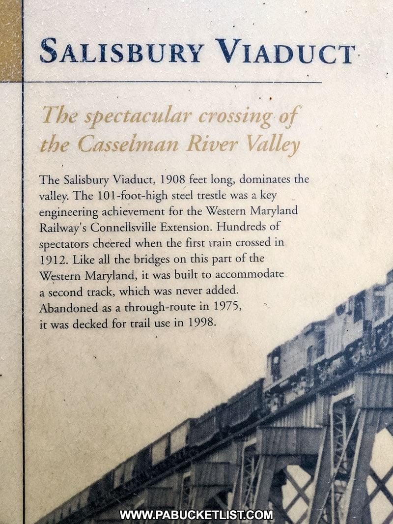 History of the Salisbury Viaduct.