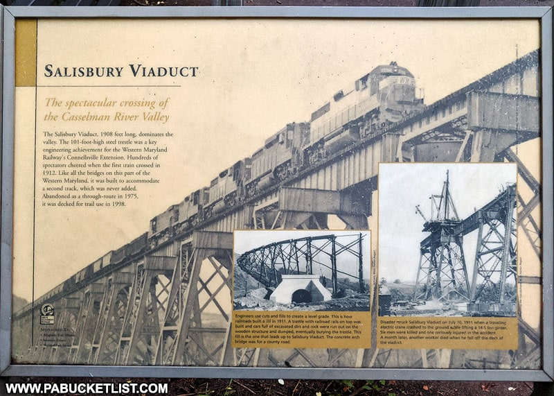Informational sign at the Salisbury Viaduct.