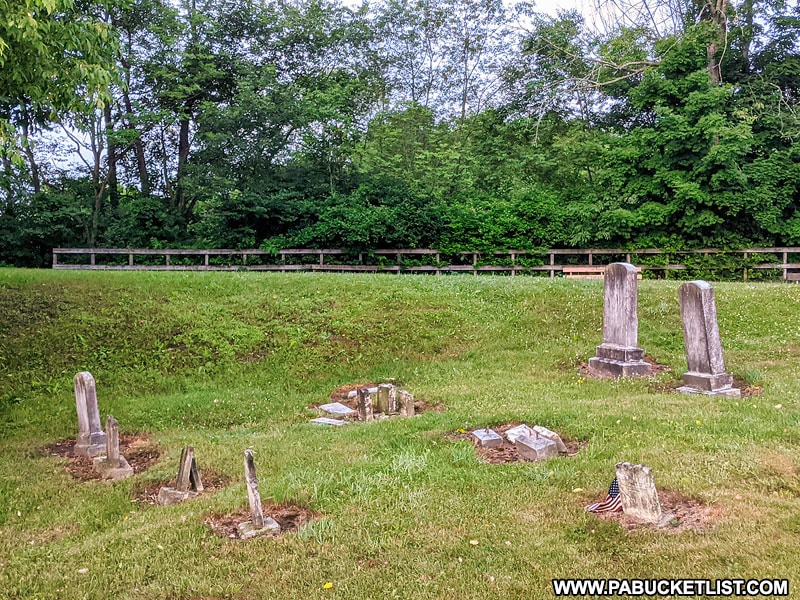 A small cemetery near the northern end of the Salisbury Viaduct.