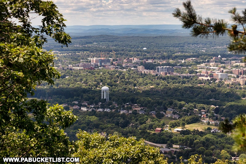 Looking towards downtown State College from Mount Nittany.