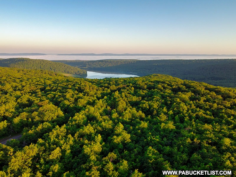 Deer Valley Lake as viewed from Mount Davis Observation Tower in Somerset County PA