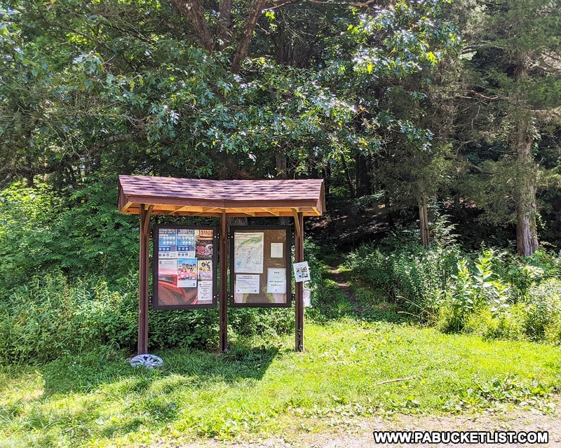 The lower Yellow Arrow Trailhead in the Rothrock State Forest.