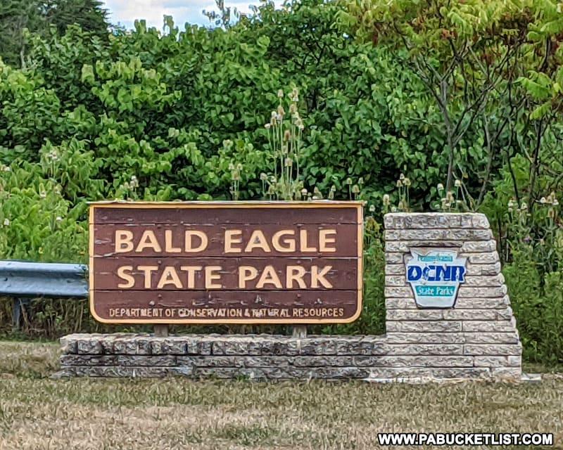 Bald Eagle State Park sign.