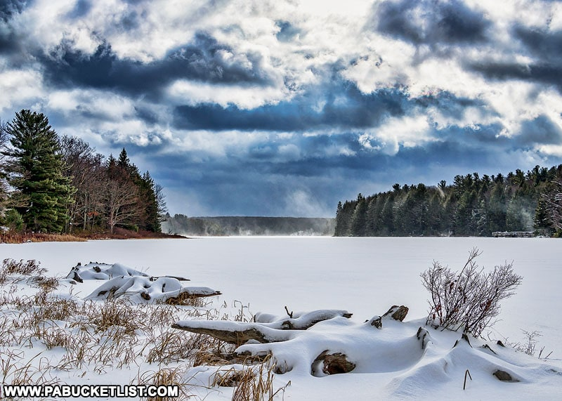 Black Moshannon State Park in the winter.