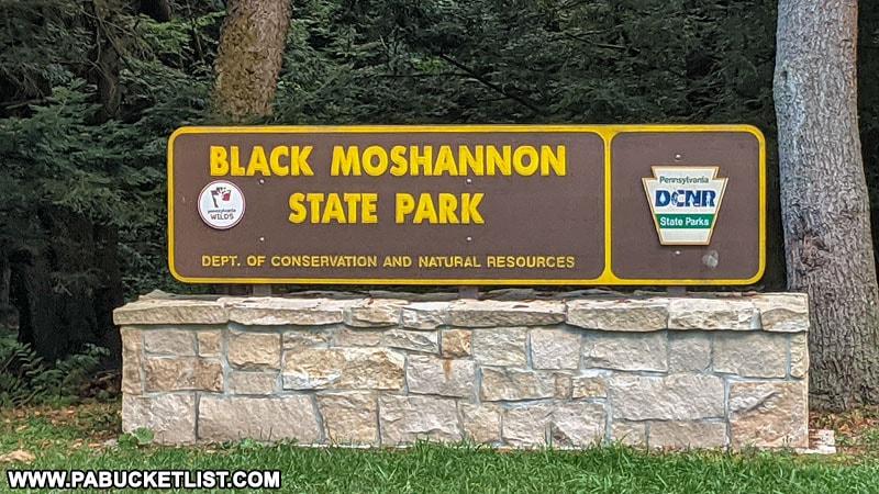 Black Moshannon State Park sign.