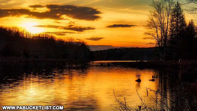 Sunset over Black Moshannon Lake